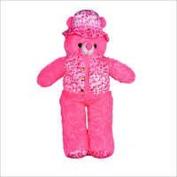 D Cap Long Pink Teddy Bear