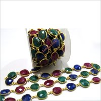 Ruby Emerald Sapphire Connector Chain