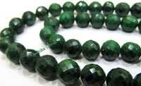 Emerald Round Faceted Beads