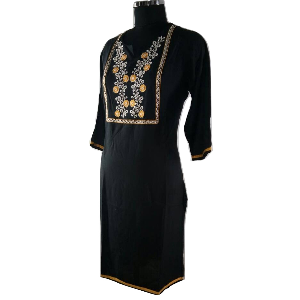 Kumkum Creation Casual Ladies Kurti (Black)