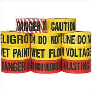 Bold Black Letters Safety Barricade Tape