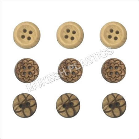 Brown Wooden Buttons