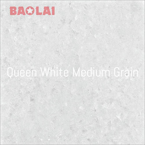 Queen White Medium Grain Marble