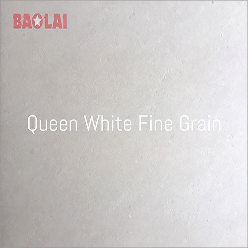 Queen White Fine Grain Marble