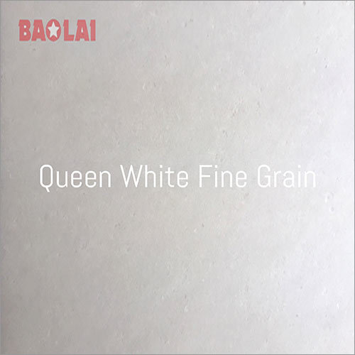Queen White Fine Grain Marble