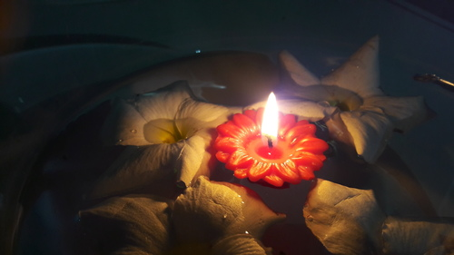 Floating Rose Candles