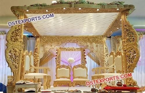 Beautiful Wedding Wooden Mandap
