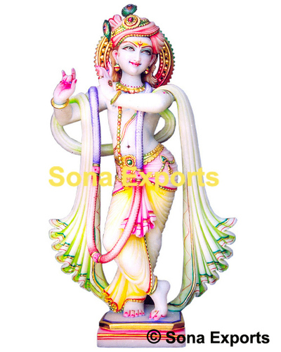 Marble Krishna Murti From Jaipur