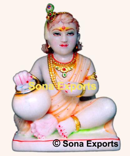 Makrana Marble Laddu Gopal Krishan Murti