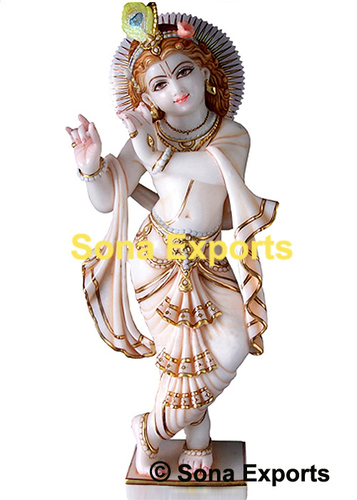Marble Murti Of Lord Krishna