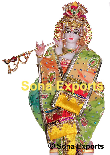 Marble Statue Of Lord Krishna