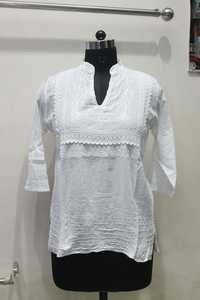 White Embroidered Kurti