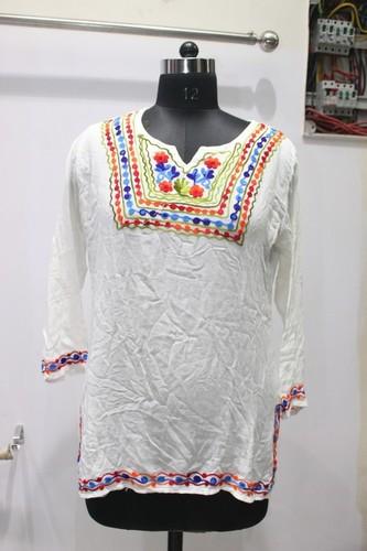 Embroidery Rayon Kurti