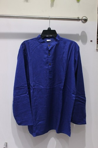 Full Sleeves 100% Cotton Plain Mens Kurta