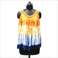 Umbrella Tie Die Short Dress