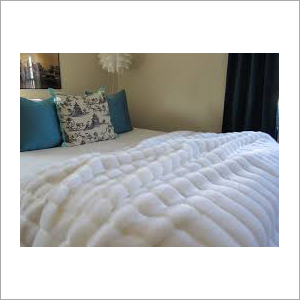 White Faux Mink Blanket