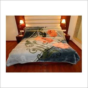 Flower Print Faux Mink Blanket