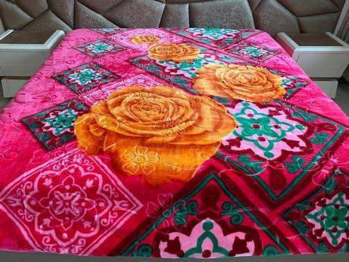 Print Faux Mink Blanket