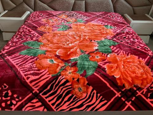 Plush Printed Mink Blanket
