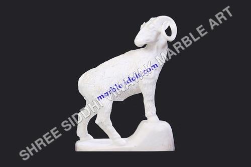 Marble Deer Statue