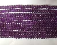 Amethyst Rondelle Faceted