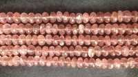 Strawberry Quartz Rondelle Faceted