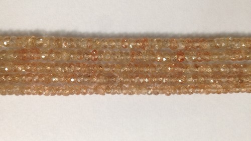 Champagne Zircon Rondelle Faceted