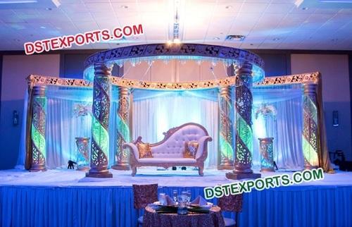 Stylish Crystal Mandap for Wedding