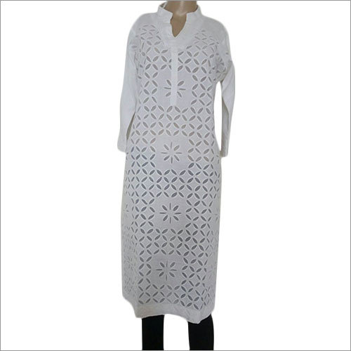 Ladies Plain White Kurtis