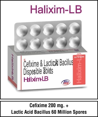 Cefixime Trihydrate 200 mg.+Lactic Acid Bacillus 60 Million Spores