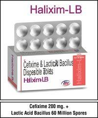 Cefixime Trihydrate 200 mg.+Lactic Acid Bacillus 60 Million Spores