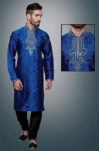 beautiful blue kurta pajama