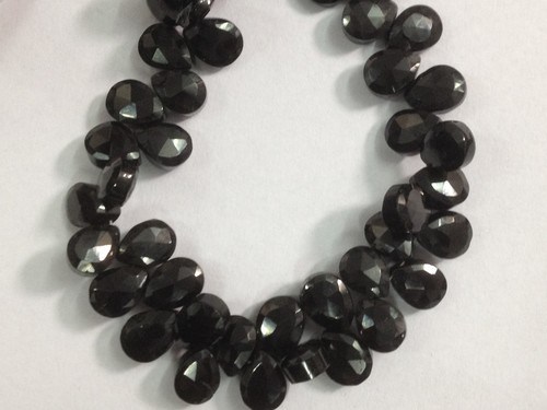 Black Spinel Faceted Pears