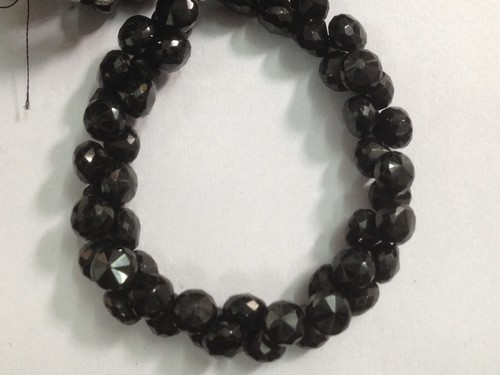 Black Spinel Faceted Onion Shape