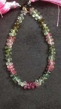 Multi Tourmaline Faceted Drops