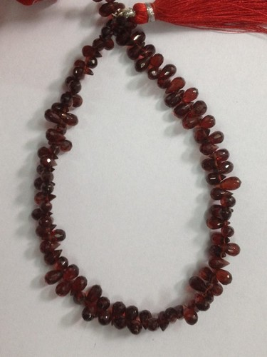 Garnet Faceted Drops