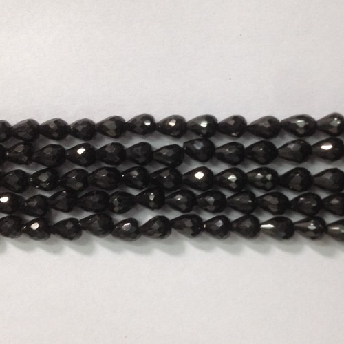 Black Spinel Cut Drops