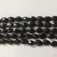 Black Spinel Faceted Oval