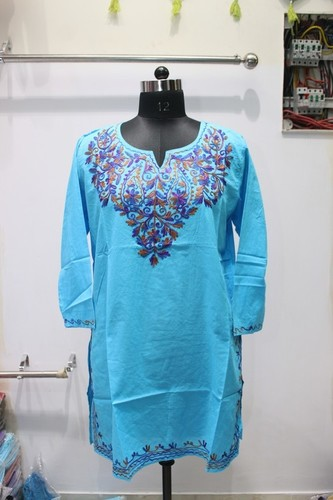 100% cotton printed Blue Kurti