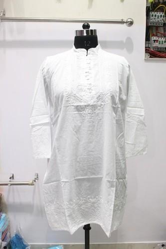 Ladies Cotton White Kurti