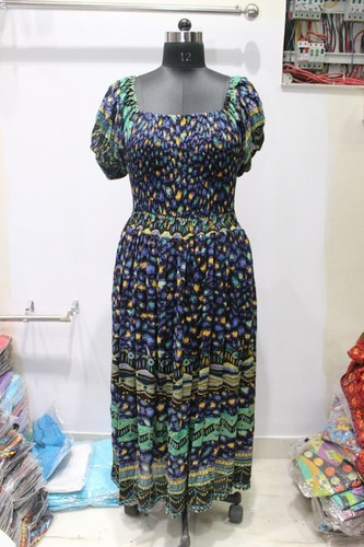 ladies long blouroo dress