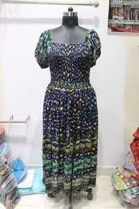 ladies long blouroo dress
