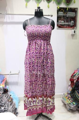 Ladies Strip Long Dress