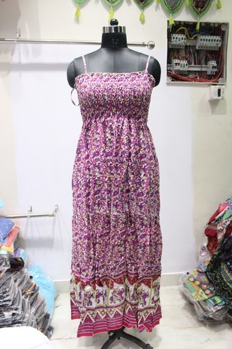 Ladies Strip Long Dress