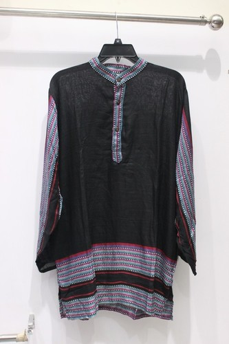 Full Sleeves 100% Cotton 3 Button Mens Kurta