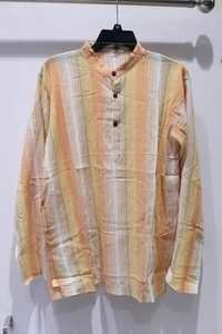 Full Sleeves 100% Cheese Cotton 3 Button Mens Kurta