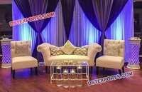 White Crystal Fitted Wedding Furniture