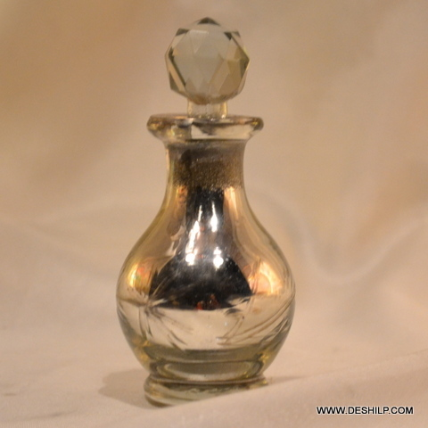 SILVER DECANTER,GLASS PERFUME BOTTLE AND DECANTER