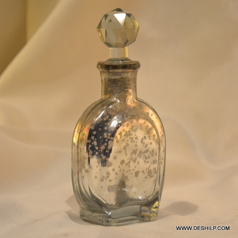 SILVER DECANTER,FRAGRANCE BOTTLE,REED DIFFUSER