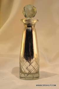 SILVER DECANTER,REED DIFFUSER, CUTTING PERFUME BOTTLE DECANTER